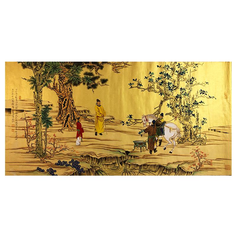 任重《洗马图》著名青年画家