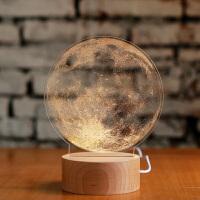 创意梦想家圣诞节礼物创意月亮台灯夜灯生日情人节礼物 可充电底座遥控开关 发顺丰