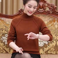 中年加厚羊毛衫高领2017新款秋冬长袖打底衫40岁50中老年妈妈毛衣