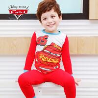 【促】迪士尼赛车总动员童装男童秋装2018秋冬新款麦昆家居服套装