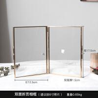 北欧金色金属创意几何植物标本相框摆台立体照片现代简约画框67寸 其他尺寸