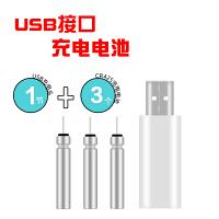 新品电子夜光浮漂充电锂电池可充电CR425电池带USB充电器套装 单次充电使用10小时左右