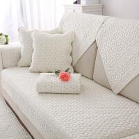全棉沙发垫四季通用布艺防滑实木坐垫子简约现代皮沙发套罩靠背巾