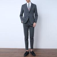 西装套装三件套修身职业商务男士正装西服伴郎团服装新郎结婚礼服 三件套