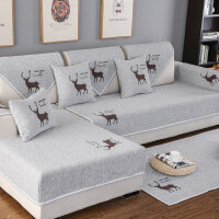 沙发垫四季通用防滑布艺棉麻沙发套全包�f能套简约现代沙发罩全盖