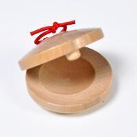 ?奥尔夫乐器玩具 三句半木制快板 儿童音乐教具原木响板圆舞板 响板(单个) 图片色