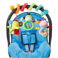 美国婴儿床绕床挂 可爱动物车挂云朵挂件0-1岁新生儿宝宝安抚玩具