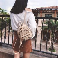 迷你刺绣双肩包女pu皮小背包2018新款韩版复古欧美潮流小包包