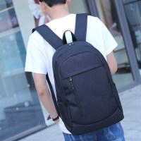 简约双肩包女韩版高中大学生书包帆布大容量旅行包时尚潮流背包男
