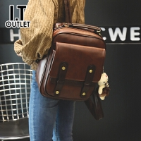 代购 香港代购新款女包包女韩版百搭学生书包复古英伦双肩包女旅行背包