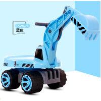 W儿童挖掘机可坐可骑大号滑行勾挖机挖土机工程男孩1-2-3岁玩具车O 官方标配