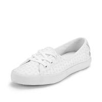 Lacoste法国鳄鱼女鞋百搭舒适帆布休闲小白鞋 7-31SPW0036专柜正品