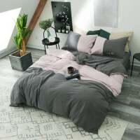 四件套全棉纯棉1.8m床上用品床单被套被罩1.5米2.0简约欧式水洗棉