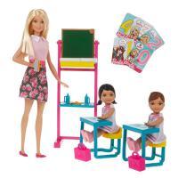 ?芭比娃娃Barbie芭比之小小英语老师女孩公主玩具套装大礼盒? 小小英语老师 15厘米-30厘米