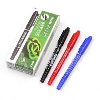 英雄883小双头记号笔 水性记号笔水性笔 儿童绘画描线勾线笔 黑色