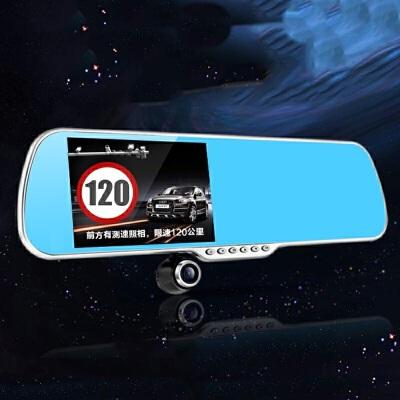 启辰R30T70XR50D50X晟风行车记录仪双镜头后视镜倒车影像导航带电子狗 行车记录仪