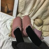 雪地靴女 网红同款靴子女冬短靴2019新款女网红同款韩版学生百搭加绒厚雪地靴srr