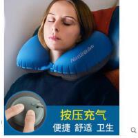 坐车枕头午睡飞机u形枕按压充气u型枕护颈枕旅行便携护脖子颈椎枕