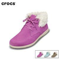 Crocs卡骆驰女鞋 阿瑞安娜冬季女士系带平底户外休闲短靴|14818 阿瑞安娜麂皮短靴