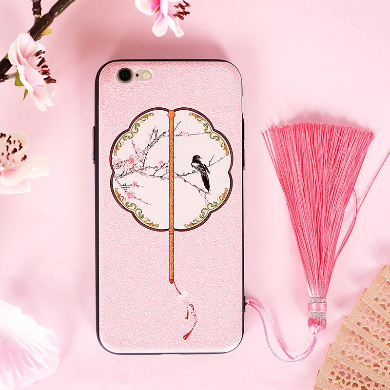 新款创意iphone6splus手机壳中国风苹果6p文艺外壳个性女款手机套