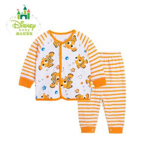 迪士尼Disney婴儿衣服纯棉新生儿套装宝宝内衣套装家居服163T654
