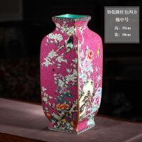 陶瓷器仿乾隆描金花瓶插花复古中式客厅家居装饰工艺品摆件