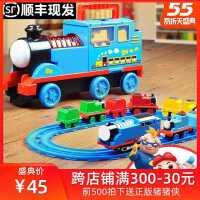 儿童声光电动收纳车小火车轨道套装益智男女孩玩具合金汽车3-6岁