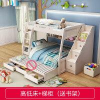 【支持�Y品卡】�和�床高低床男女孩子母床上下床家具�p�哟材缸哟��木上下�床3xe