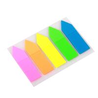 金万年彩色索引分类指示标签贴纸 5色箭头形便利贴荧光膜