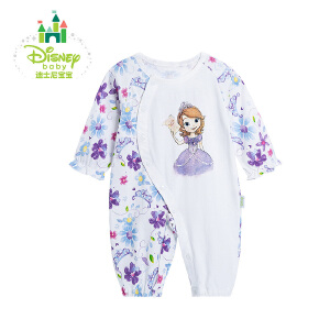 迪士尼Disney 女童连体衣纯棉长袖连体哈衣时尚爬服秋款163L699