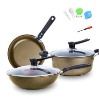 厨房锅具 锅组套装  煎锅汤锅组合套装  炒锅套装