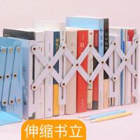 【单件包邮】可伸缩书立架创意高中生简约铁立书架桌上学生折叠收纳书靠书档