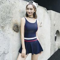 泳衣女分体保守显瘦遮肚性感韩国新款裙式平角女士温泉泳装女8820