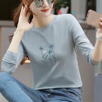 女士长袖T恤2020春秋新款韩版宽松打底衫外穿百搭上衣