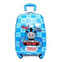 儿童拉杆箱男童女童18寸万向轮小学生旅行箱卡通行李拉杆包密码箱 水湖蓝 18寸托马斯