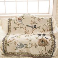 美式沙发布欧式花鸟沙发巾布艺餐桌布欧式沙发垫防滑垫盖毯飘窗垫防尘罩