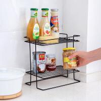 铁艺双层调料架置物架厨房用品 家用多功能落地架子调味品收纳架