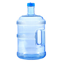 纯净水桶塑料家用储水桶大号加厚带盖手提PC小型桶食品级饮水机桶 3L 加厚PC水桶