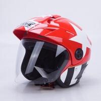 夏季摩托车头盔男女四季通用越野机车时尚个性秋冬半盔YH887A