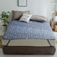 床垫1.8m床褥子榻榻米垫被1.5米单人保护垫子双人折叠防滑学生1.2