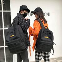 双肩包女2018新款韩版潮百搭高中学生书包男女休闲情侣旅行背包