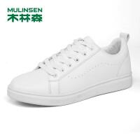 木林森男鞋2018秋冬新款小白鞋橡胶底耐磨时尚休闲板鞋 87053615