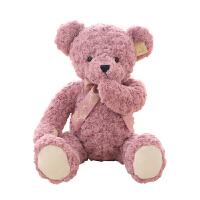 可爱害羞泰迪熊毛绒玩具小布娃娃女生儿童抱抱熊公仔女孩公主抱睡