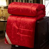 结婚婚庆大红蚕丝棉被芯6斤8斤10斤双人单人被子春秋被空调被保暖