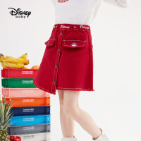 【今日4折�A估�r:66.5元】迪士尼女童不��t梭�短裙秋冬新款�和������r尚洋�馔��b裙子潮