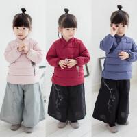 儿童汉服冬装民国风女童宝宝改良中国风加厚保暖斜襟唐装棉衣