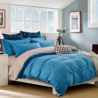 水洗棉磨毛四件套加厚保暖床上用品春秋被套床单1.5m/1.8/2.0米床