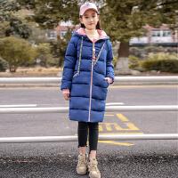 少女中长款2018冬季新款学生韩版棉袄外套初中生加厚保暖棉衣