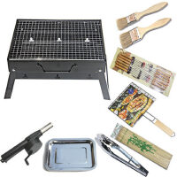 野外烧烤炉 户外便携家用木炭折叠烧烤架 碳烤肉串架子