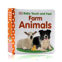 英文原版 DK系列 Baby Touch and Feel Farm Animals 农场动物 儿童英语启蒙触摸纸板书